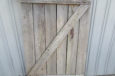 Antique Vintage Primitive Weathered Solid Wood Barn Door #S104 3