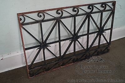 Antique Hand Wrought Iron Pair of Black Iron Regency Style Wall Grates (B) 10