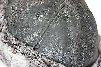 Neuf avec étiquettes 100/% Peau de Mouton Shearling Cuir Fourrure capitaine Elmer Fudd Hommes chapeau d/'hiver S-3XL