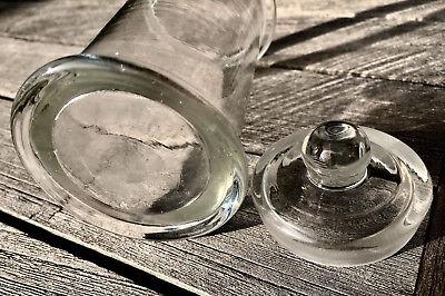 Altes Präparateglas / Gewürzglas mit eingeschliffenem Kugelknopfdeckel 3