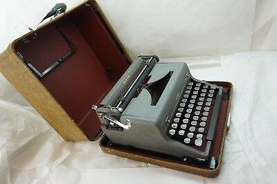 Vintage Typewriter Royal Arrow Portable Manual With Case 4 Bank Black Keys