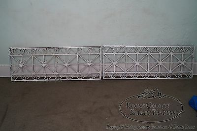 Antique Pair of Hand Wrought Iron Regency Style Wall Grates (B) 2