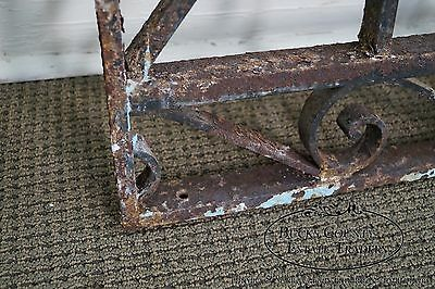 Antique Hand Wrought Iron Pair of Black Iron Regency Style Wall Grates (B) 6