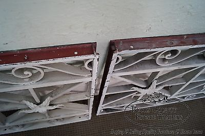 Antique Pair of Hand Wrought Iron Regency Style Wall Grates (B) 9