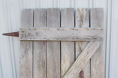 Antique Vintage Primitive Weathered Solid Wood Barn Door #S104 2