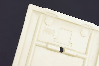 Vtg Hubbell Switch Cover Plate Deco Fine Ribbed Ivory Single Gang Toggle 4