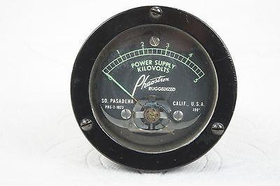 "Phaostron Ruggedized ITT  2.5"" Panel Mount 5KV AC Power Supply 3KV DC Voltmeter 8"