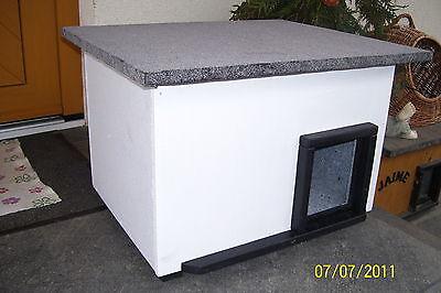 Katzenhaus mit Heizung Katzenhütte Wurfkiste Hundehütte wetterfest isoliert 2