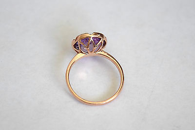 4584001f929fc EFFY LAVENDER ROSE Amethyst and Diamonds Ring in 14k Rose Gold, size 6.25