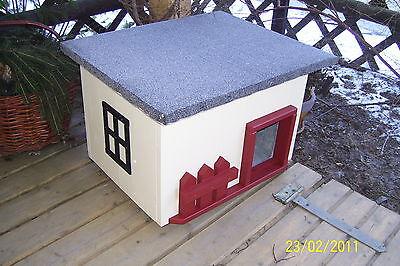 Katzenhaus mit Heizung Katzenhütte beheizt Hundehütte wetterfest isoliert 2