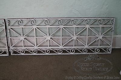 Antique Pair of Hand Wrought Iron Regency Style Wall Grates (B) 4