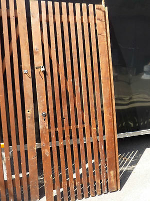 "PR victorian ATTIC slatted DOORS great for restoration or ART project 87 x 33.5"" 3"