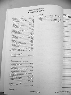case 1150e 1155e crawler tractor dozer parts manual catalog exploded