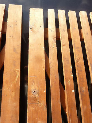 "PR victorian ATTIC slatted DOORS great for restoration or ART project 87 x 33.5"" 4"