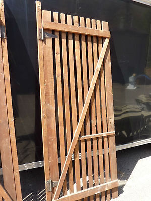 "PR victorian ATTIC slatted DOORS great for restoration or ART project 87 x 33.5"" 9"