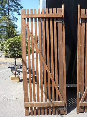 "PR victorian ATTIC slatted DOORS great for restoration or ART project 87 x 33.5"" 8"