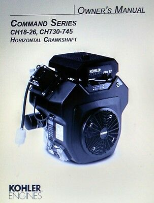Kohler Command CH18-750 CH20 Horizontal Engine Owner & Service (2 Manual s) h.p 3