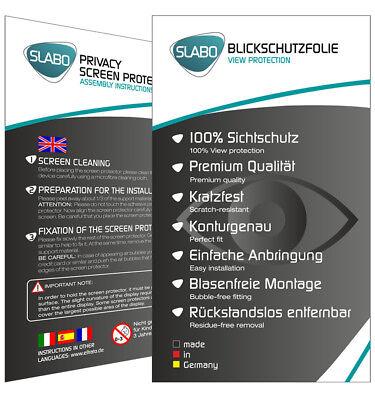 """Slabo Blickschutzfolie für LG G7 ThinQ SCHWARZ """"View Protection"""" 6"""