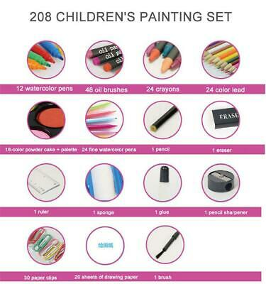 Deluxe Art Creativity Set Children Kids Crayons Painting Drawing Kit Sets 8