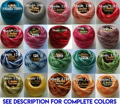 1 ANCHOR Pearl Cotton 8 Crochet Embroidery Thread Ball 1 Flat/Free Postage on 10 11