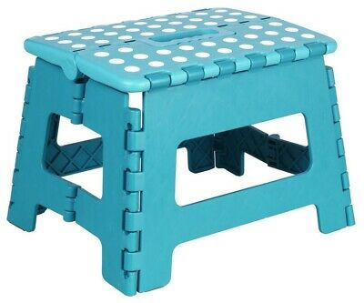 Heavy Duty Plastic Step Stool Foldable Multi Purpose Home Kitchen Use Easy Store 2