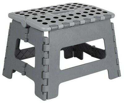 Heavy Duty Plastic Step Stool Foldable Multi Purpose Home Kitchen Use Easy Store 4