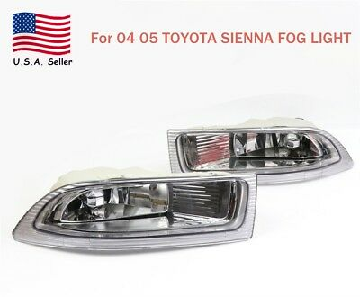 One Pair Left+ Right Front Fog Driving Lamp Light US For 2004 2005 Toyota Sienna 2