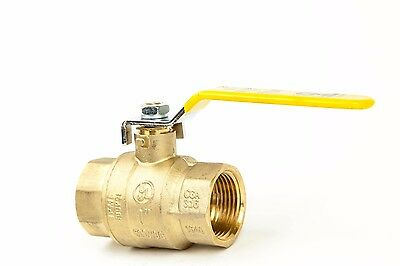 """NEW 2-1//2/"""" IPS Full Port Brass Ball Valve CSA Approved 600 WOG Lead Free Thread"""