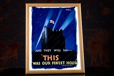 Winston Churchill Speeches WW2 Quote THIS WAS OUR FINEST HOUR - WWII Poster 3