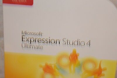 NEW Microsoft Expression Studio 4 Ultimate--For Academic Use Sealed Box
