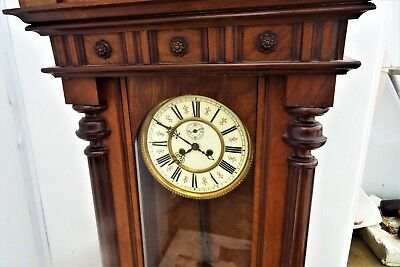 Huge Vienna rare maker movement mahogany cased 3