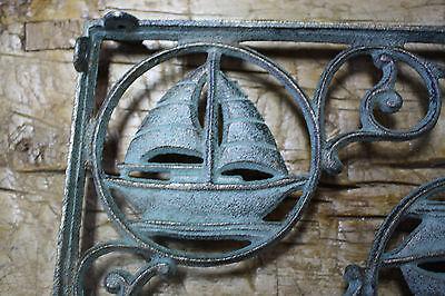 6 Cast Iron NAUTICAL SAIL BOAT Brackets Garden Braces Shelf Bracket PIRATES SHIP 3