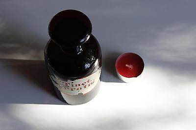Apothekerflasche, Form selten, rund, alt, TINCT. VERATRI SCHLIFF STOPFEN