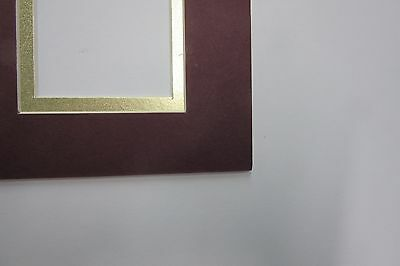 Picture Framing Mat 11x14 for 8x10 photo /& 2 sports cards Gold and Maroon