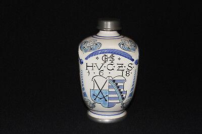Apothekerkrug Keramikkrug Apothekergefäß mit Zinn Schraubverschluß Ulmer Keramik 3