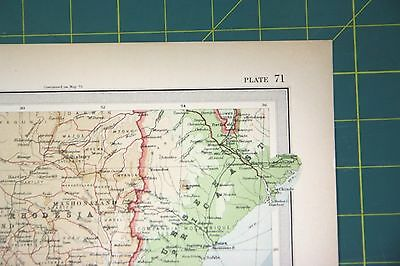 South Africa Plate 71 Vintage 1922 Times World Atlas Antique Folio