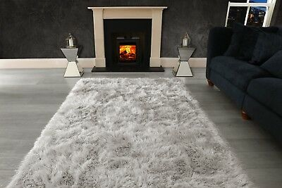Modern Large Extra Thick 9cm High Pile SHAGGY Floor RUG with SPARKLE SHIMMER 8