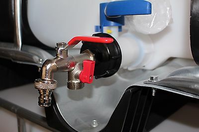 ibc adapter 1 2 auslaufhahn regenwassertank adapter 1000l wassertank anschluss eur 10 90. Black Bedroom Furniture Sets. Home Design Ideas