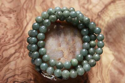"Genuine 100% Natural Jadeite ""Grade A"" Beautiful Oily Green JADE Necklace #N291 5"