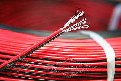 2PIN Equipment Wire Cable copper core 18AWG 20AWG 22AWG 24AWG Red&Black 3