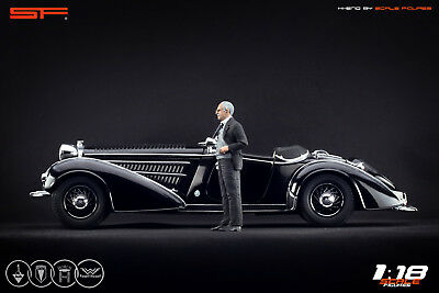 NO CAR! painted VERY RARE!! 1:18 August Horch AUDI Founder