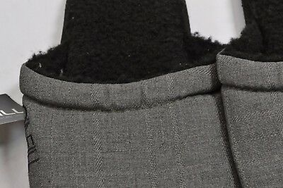 O/'Neill RICO Charcoal Gray Black Sherpa Lined Padded Insole Men/'s Slipper