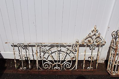 Antique Ornate Wrought Iron Fence - American circa 1900s 2