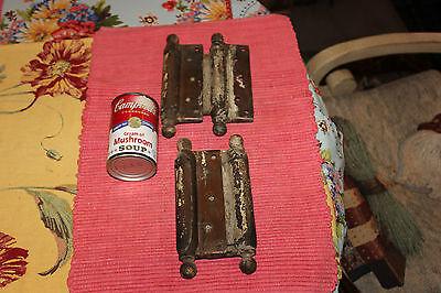 Antique Bommers Door Hinges-Pair-1800'S Patent Dates-Heavy Duty Door Hinges 8