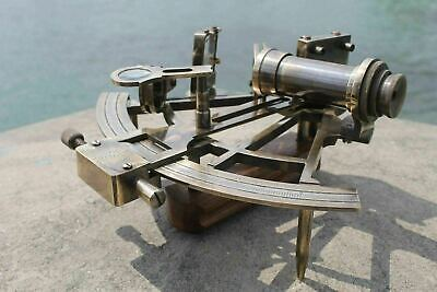 "Nautical Marine Navigational Astrolabe Instrument Brass Sextant 8"" Antique Gift 7"