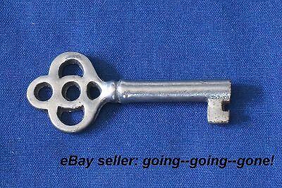ANTIQUE HOLLOW BARREL KEY ROLL TOP DESK CABINET DRAWER KEY EARLY 1900's NICE 24B 2