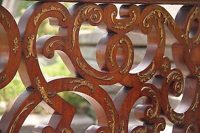 19C Italian Baroque Royal Palace Carved Gilded Oak Serpentine Hand Rail 4