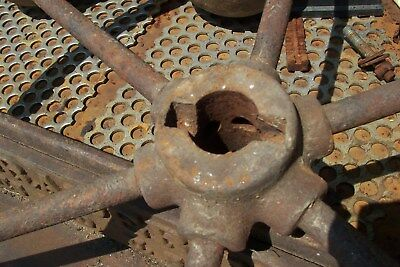 CAST IRON ADAMS GRATER 1C WHEEL  INDIANAPOLIS AND PLACK