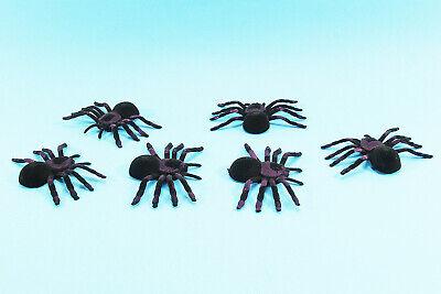 4X schwarze Plastikspinne lustige gefälschte Spinnen Halloween-Party Spukhaus XJ