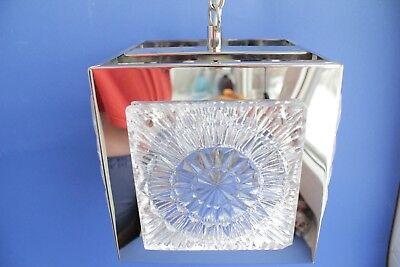 Swedish vintage brass chrome plated Crystal ORREFORS VINTAGE  LAMP 5